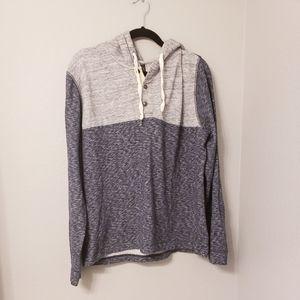 Lucky brand color block men's sweatshirt hoodie
